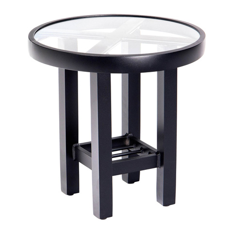 Woodard Company - Palm Coast Elite End Table with Glass Top - 4V0604