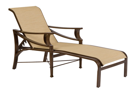 Woodard Company - Arkadia Sling Adjustable Chaise Lounge - 5H0470