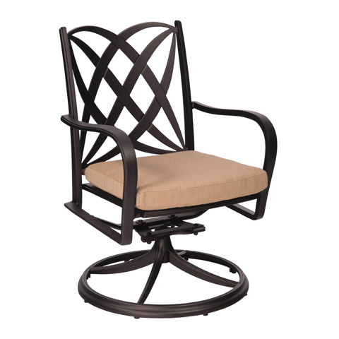 Woodard Company - Apollo Swivel Rocker Dining Arm Chair - 7U0472ST
