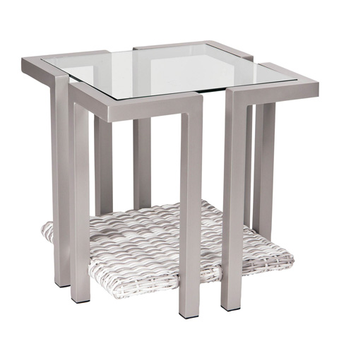 Woodard Company - Imprint End Table with Glass Top - S501201