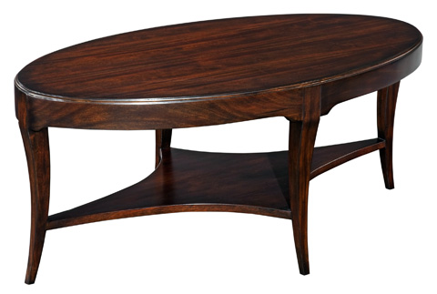 Woodbridge Furniture Company - Addison Oval Cocktail Table - 2076-14