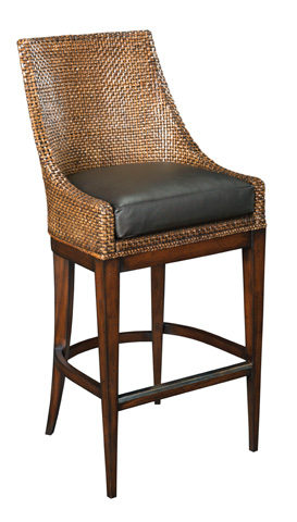Woodbridge Furniture Company - Woven Leather Barstool - 7174-03