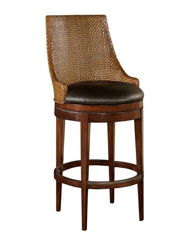Woodbridge Furniture Company - Woven Leather Swivel Barstool - 7185-03