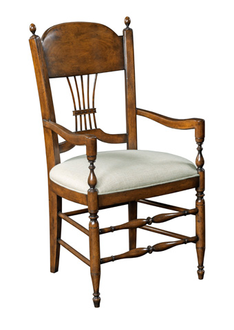 Woodbridge Furniture Company - Gathered Spindle Arm Chair - 7220-10
