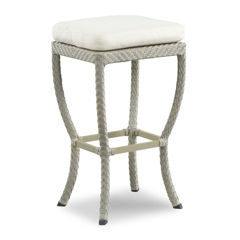 Image of Outdoor Backless Rectangular Barstool