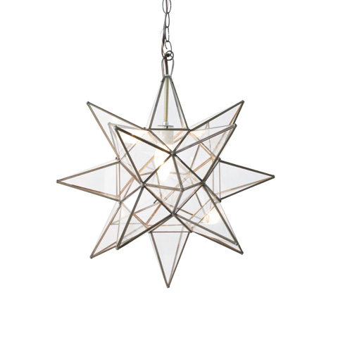 Worlds Away - Small Clear Star Chandelier - ACS110