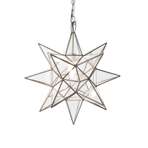 Worlds Away - Large Clear Star Chandelier - ACS111