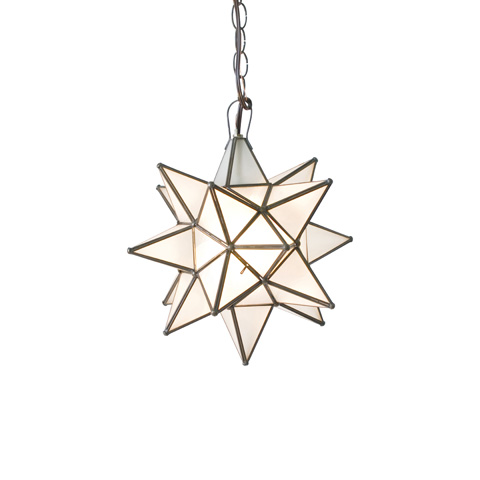 Worlds Away - Large Frosted Glass Star Chandelier - AGS810