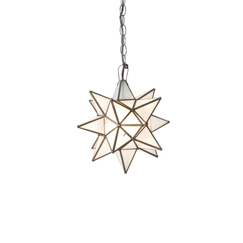 Worlds Away - Small Frosted Glass Star Chandelier - AGS812