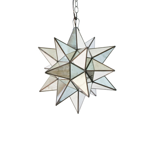 Worlds Away - Small Antique Mirror Star Chandelier - AMS110