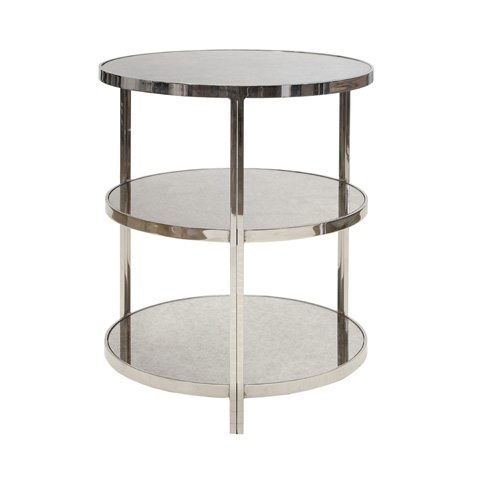 Worlds Away - Nickel Plated Three Tier Table - AUDREY N