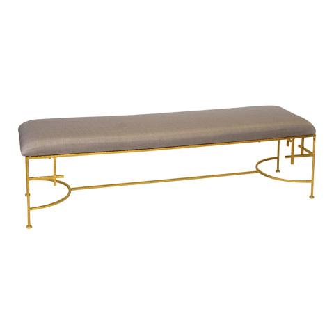 Image of Hammered Gold Leaf Bench