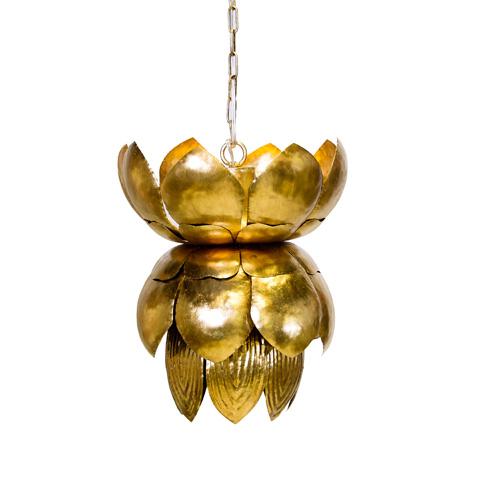Worlds Away - Gold Leaf Tin Chandelier - BLOSSOM G