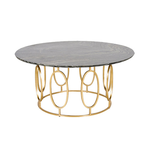 Worlds Away - Gold Leaf Ovals Coffee Table - CALEB GB