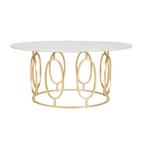 Worlds Away - Gold Leaf Ovals Coffee Table - CALEB GW