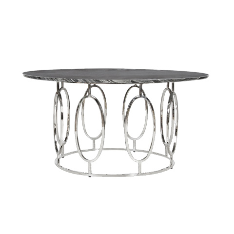 Worlds Away - Nickel Plated Ovals Coffee Table - CALEB NB