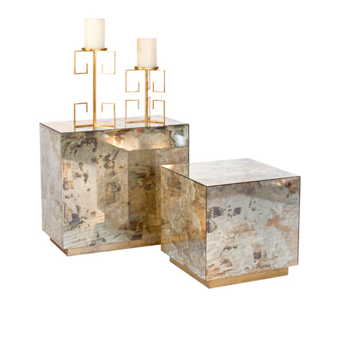 Worlds Away - Small Reverse Mirror Side Table - CUBO SMG