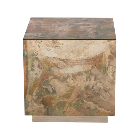 Worlds Away - Small Reverse Mirror Side Table - CUBO SMS