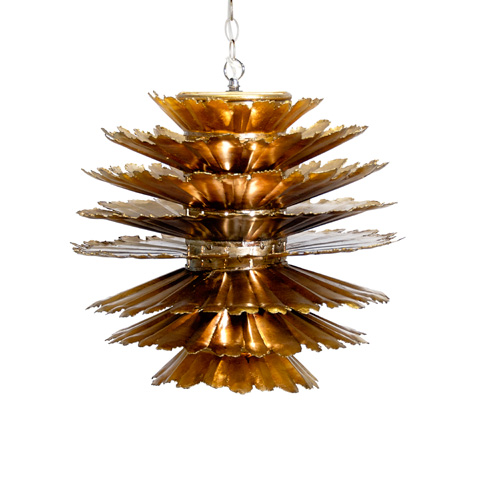 Worlds Away - Gold Leaf Iron Pierced Pendant - DANTE G