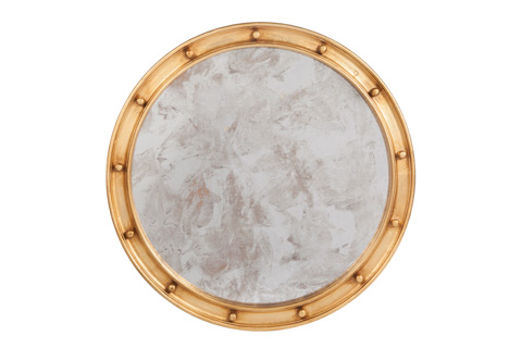 Worlds Away - Gold Leaf Federal Style Mirror - FEDERAL G