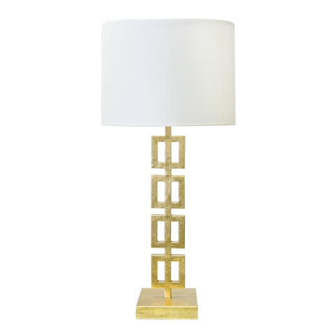 Worlds Away - Gold Leaf Vertical Squares Table Lamp - FIONA G