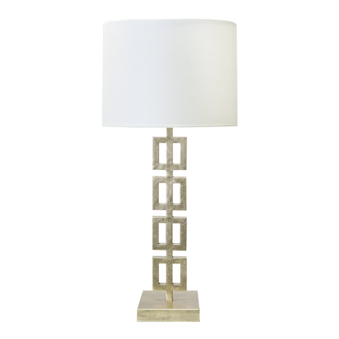 Worlds Away - Silver Leaf Vertical Squares Table Lamp - FIONA S
