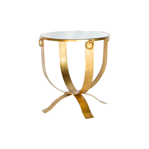 Worlds Away - Gold Leaf Milano Table - FNAMSRG