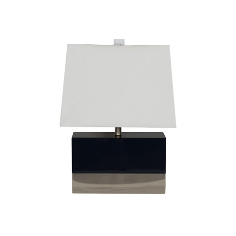 Worlds Away - Black Lacquer Rectangular Lamp - FOLEY BLN