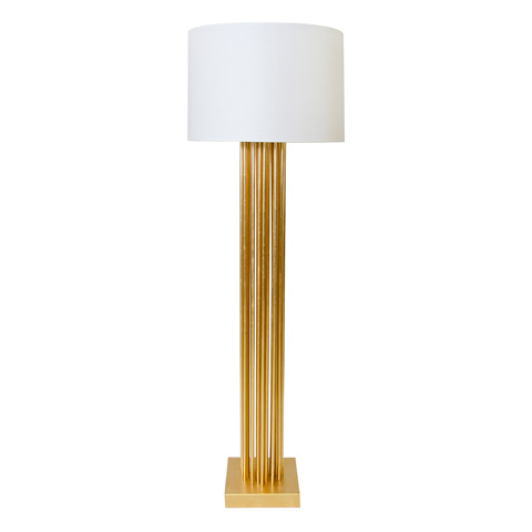 Worlds Away - Gold Leaf Vertical Pipe Floor Lamp - GIBSON G