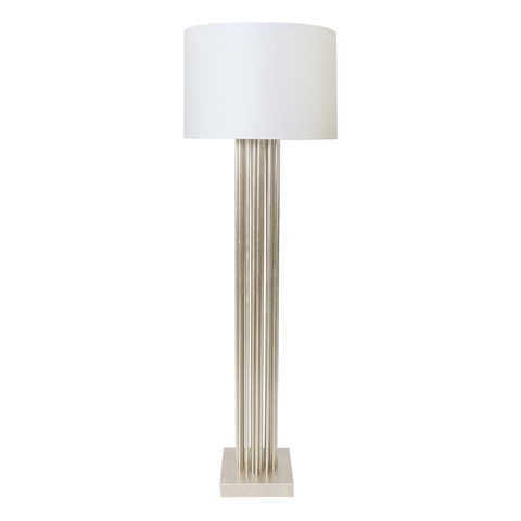 Worlds Away - Silver Leaf Vertical Pipe Floor Lamp - GIBSON S