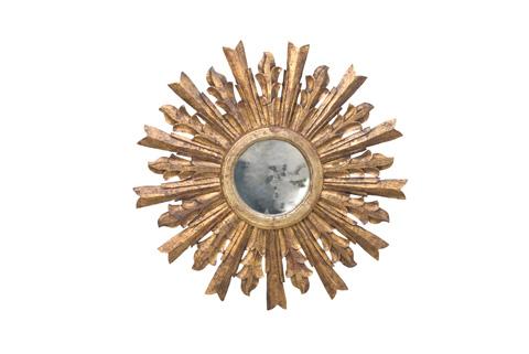 Worlds Away - Handcarved Starburst Mirror in Gold Leaf - GOYA G