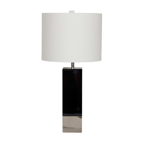 Worlds Away - Black Lacquer Table Lamp - HARPER BLN