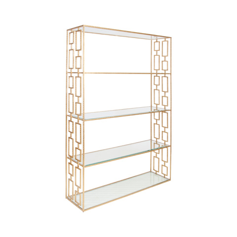 Image of Hammered Gold Leaf Etagere