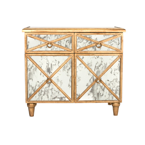 Worlds Away - Gold Leaf Crosshatch Chest - HUMPHREY G