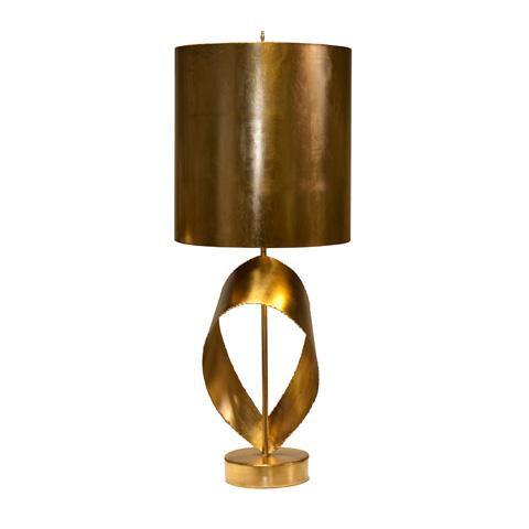 Image of Gold Leaf Brutalist Ribbon Lamp