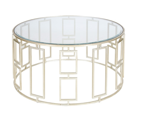 Worlds Away - Silver Leaf Coffee Table - JENNY S