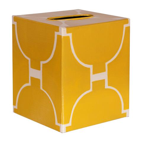 Worlds Away - Yellow and Cream Kleenex Box - KBACADIAY