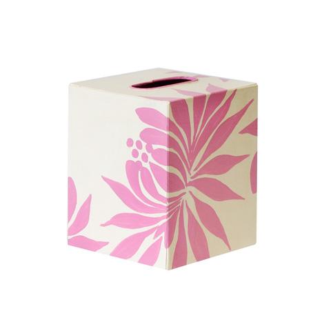Worlds Away - Pink and Cream Floral Kleenex Box - KBDAHLIAP