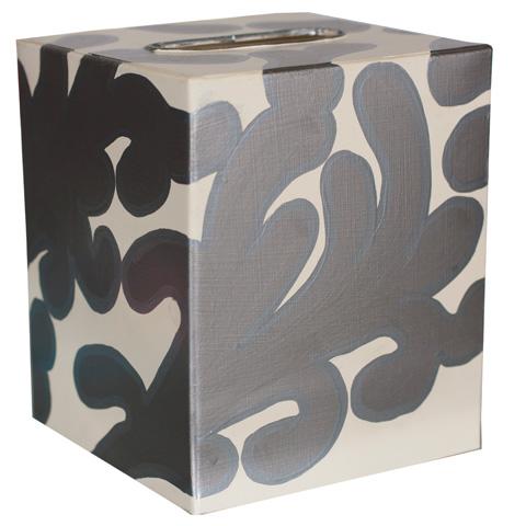 Worlds Away - Silver and Cream Kleenex Box - KBJANES