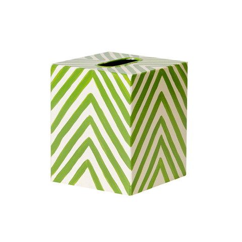 Worlds Away - Green Zebra Kleenex Box - KBZEG