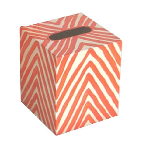Worlds Away - Orange Zebra Kleenex Box - KBZEO