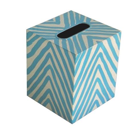Worlds Away - Tuquoise Zebra Kleenex Box - KBZET