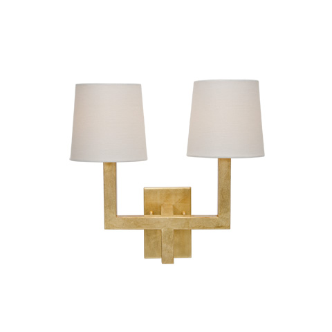 Worlds Away - Gold Leaf Two Arm Sconce - KENNEDY G