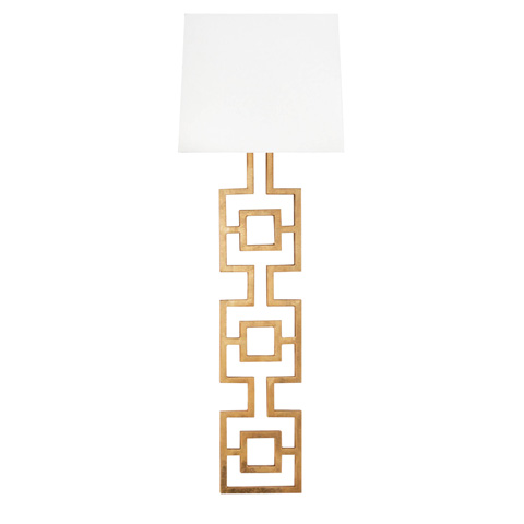 Worlds Away - Gold Leaf Square Motif Sconce - LAUREN G