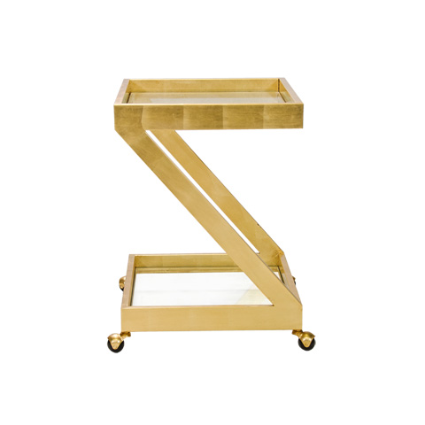 Image of Gold Leaf Bar Cart