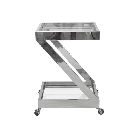 Image of Nickel Plated Bar Cart