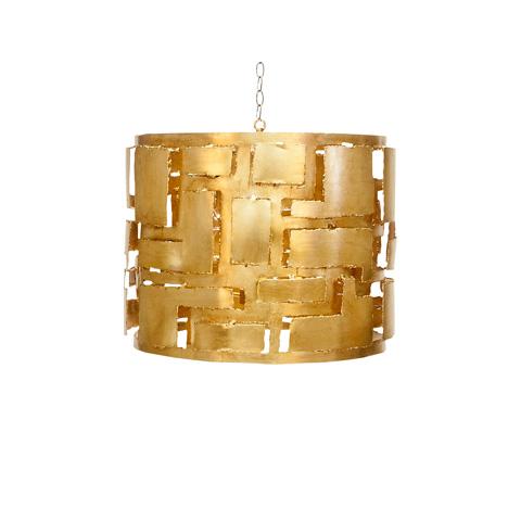 Worlds Away - Brutalist Gold Leaf Pendant - LEO G