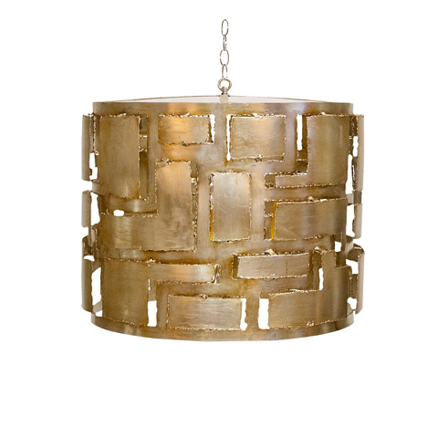 Image of Brutalist Champagne Silver Leaf Pendant
