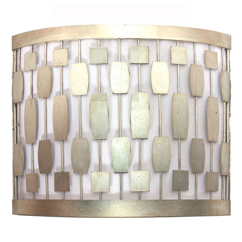 Worlds Away - Silver Leaf Mid Century Motif Sconce - LEWIS S