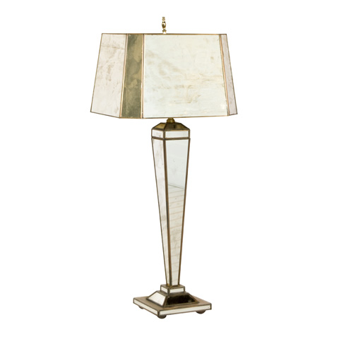 Worlds Away - Antique Mirror Hilton Lamp - LHAM4R